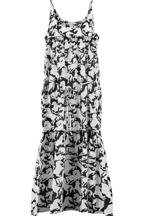 STELLA McCARTNEY Printed cotton and silk-blend midi dress