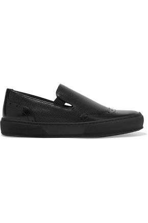 ROBERT CLERGERIE Perforated leather slip-on sneakers
