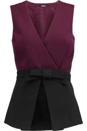 RAOUL Vera wrap-effect crepe top