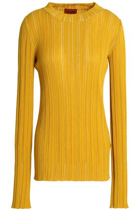 MISSONI Ribbed striped wool-blend sweater