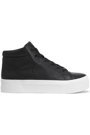 DKNY Leather high-top sneakers