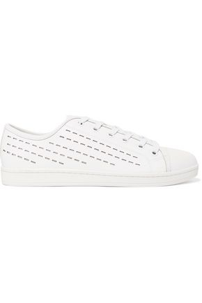 DKNY Baylee perforated leather sneakers