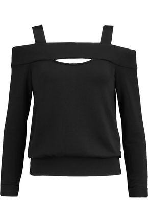 BAILEY 44 Fleece-lined cutout jersey top