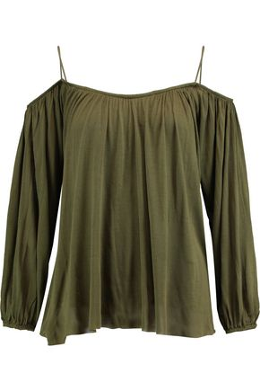 BAILEY 44 Boho cold-shoulder jersey top