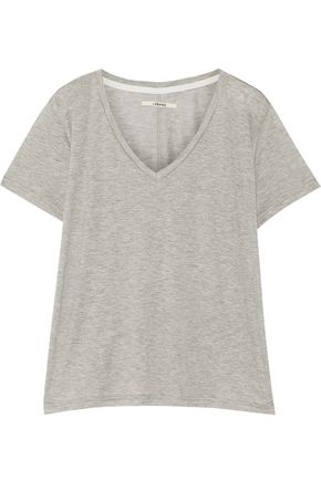 J BRAND Janis distressed printed jersey T-shirt