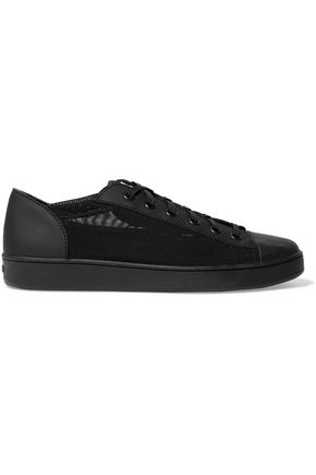 DKNY Brayden leather-paneled mesh sneakers