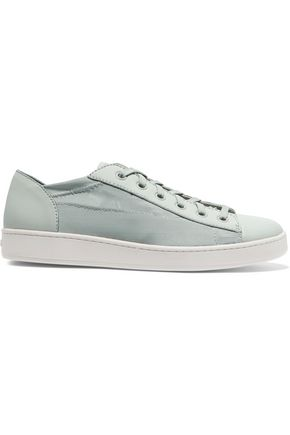 DKNY Brayden leather-paneled mesh sneakers