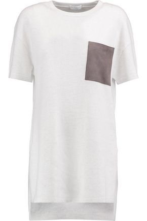 BRUNELLO CUCINELLI Two-tone cashmere T-shirt