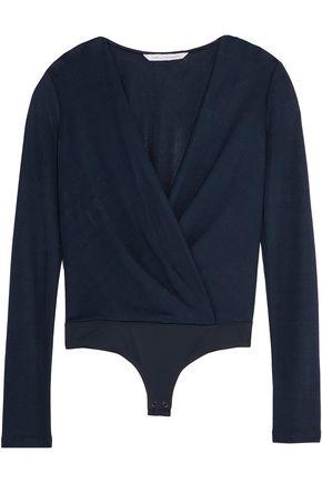 DIANE VON FURSTENBERG Lala wrap-effect crepe bodysuit
