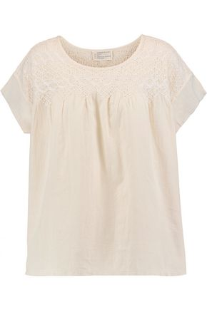 Current Elliott  Embroidered cotton top