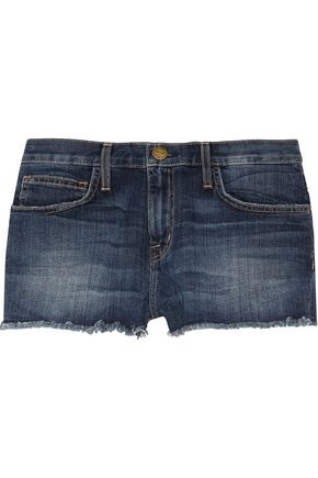 CURRENT/ELLIOTT The Boyfriend low-rise cut-off stretch-denim shorts