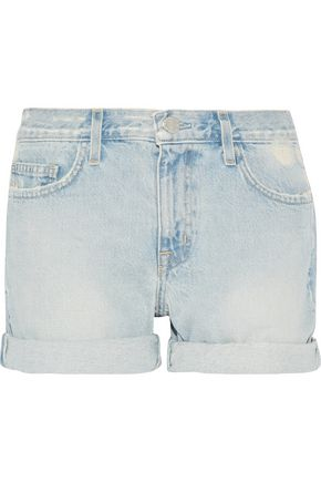 CURRENT/ELLIOTT The Boyfriend distressed denim shorts