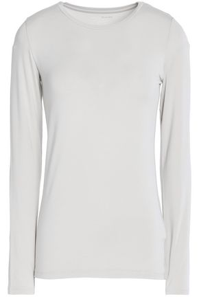 MAJESTIC Mélange stretch-jersey top