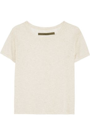 ENZA COSTA Marled jersey T-shirt