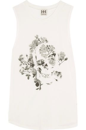 HAUTE HIPPIE Printed stretch-modal tank