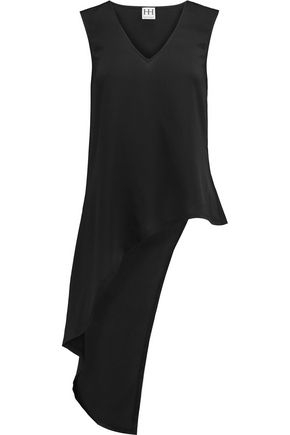 HAUTE HIPPIE Asymmetric crepe top