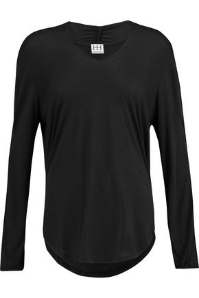HAUTE HIPPIE Cutout modal-jersey top