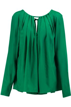 EMILIO PUCCI Pleated silk crepe de chine blouse