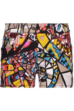 EMILIO PUCCI Printed denim shorts