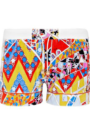 EMILIO PUCCI Printed cotton-blend terry shorts