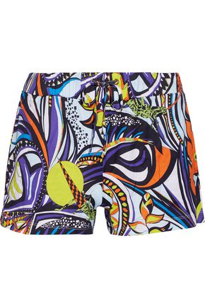 EMILIO PUCCI Printed cotton-canvas shorts