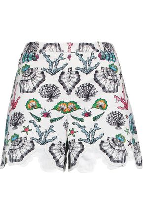 EMILIO PUCCI Printed cotton-blend shorts