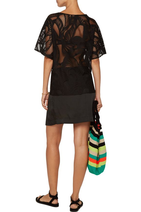 Embroidered cotton-blend mesh top | EMILIO PUCCI | Sale up to 70% off | THE  OUTNET