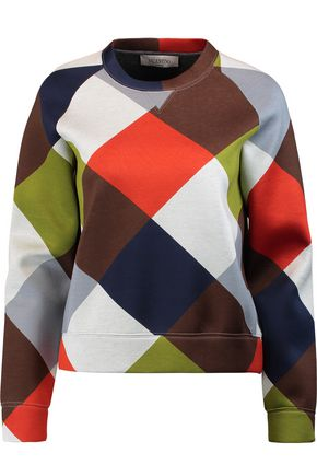 VALENTINO Printed cotton-jersey sweatshirt