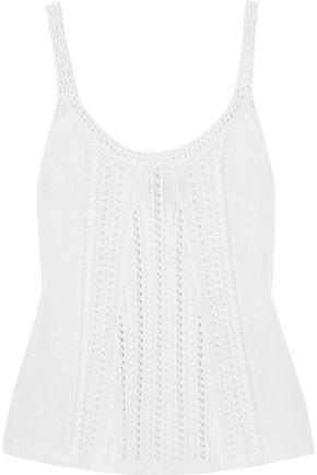 AUTUMN CASHMERE Open-knit top