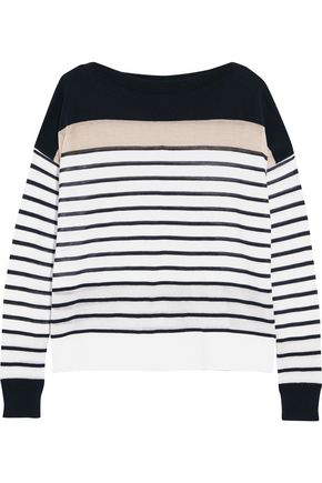 AUTUMN CASHMERE Striped cotton top
