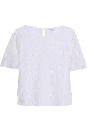 EQUIPMENT Brynn embroidered washed-silk top
