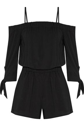 SPLENDID Cold-shoulder jersey playsuit