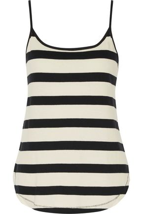 SPLENDID Striped cotton-jersey camisole