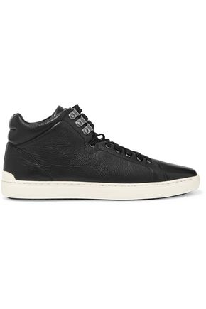 RAG & BONE Kent textured-leather high-top sneakers