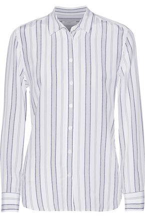 EQUIPMENT Leema striped washed-silk shirt