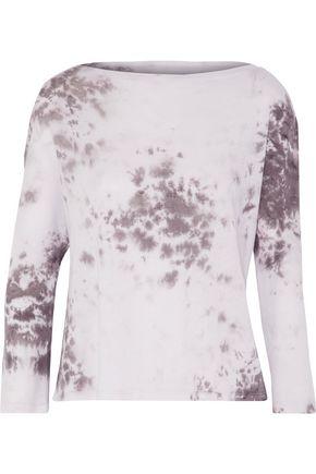ENZA COSTA Tie-dye Pima cotton top