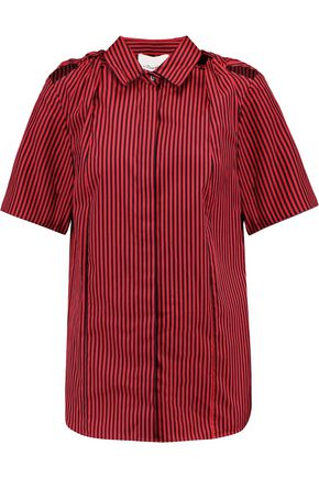 3.1 PHILLIP LIM Knotted striped cotton and silk-blend shirt