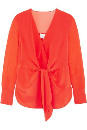 3.1 PHILLIP LIM Knotted silk-crepe blouse