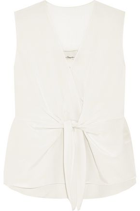 3.1 PHILLIP LIM Knotted silk-crepe top