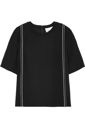 3.1 PHILLIP LIM Embroidered silk-crepe top