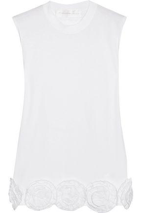 VICTORIA, VICTORIA BECKHAM Appliquéd cotton-jersey top
