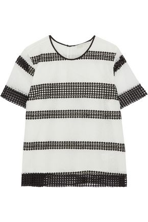 MICHAEL MICHAEL KORS Two-tone lace top
