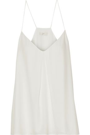 JOIE Nahlah pleated washed-silk top