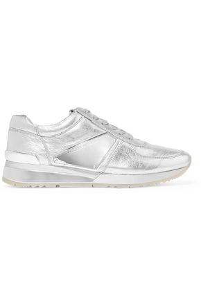 MICHAEL MICHAEL KORS Metallic textured-leather sneakers