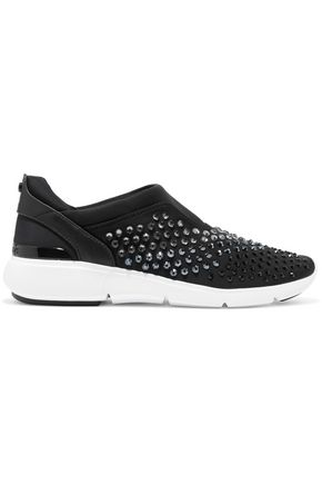 MICHAEL MICHAEL KORS Embellished neoprene slip-on sneakers