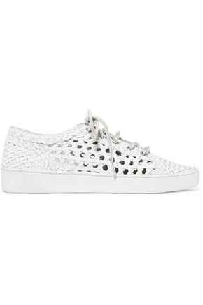 MICHAEL KORS COLLECTION Violet woven leather sneakers