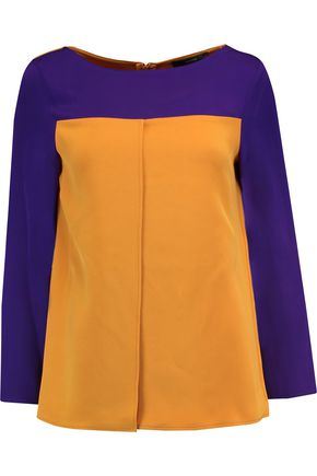 ETRO Two-tone silk-crepe blouse