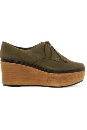 SCHUTZ Romia suede wedge sneakers
