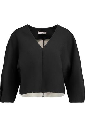 TIBI Cropped crepe top