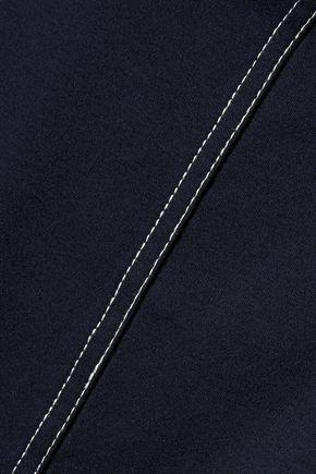 TIBI Mélange cotton-jersey top